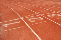 Running Track. For race 1-3 . for concept or background Royalty Free Stock Photos