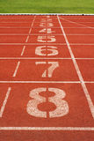 Running Track. For race 1-8 . for concept or background royalty free stock photo