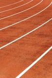 Running track. In a stadium stock image