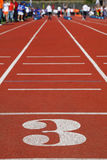 Running Track 3; people are far away Royalty Free Stock Photo