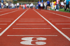 Running Track 3; perspective; Royalty Free Stock Photo