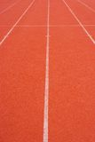 Running track. Empty running track in perspective Stock Photo