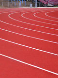 Running track. Athletics running track Royalty Free Stock Photo