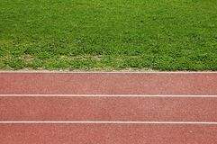 Running track. Athletics track  for running competition Royalty Free Stock Photography