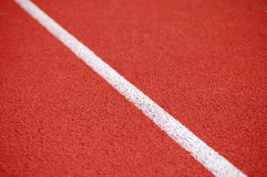 Running Track. Line on the running track detail Royalty Free Stock Images