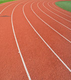 Running Track. A track used for running, jogging, races and track and field events Stock Images