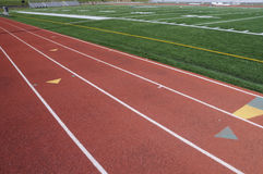 Running Track. Starting Grid on red running track Stock Images