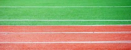 Running track. Close up. Athletic stadium Stock Photo