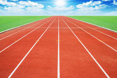 Running track. Against sky: abstract concept Stock Photography