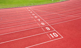 Running track for athletes Stock Photography