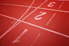 Running track for athletes Royalty Free Stock Image