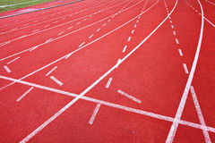 Running track for athletes Royalty Free Stock Images
