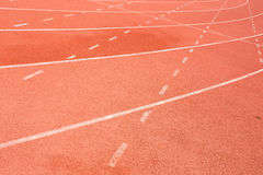 Running track for the athletes background Royalty Free Stock Image