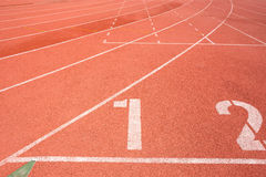 Running track for the athletes background Stock Photography