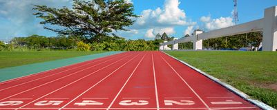 Running track for the athletes background, Athlete Track. Or Running Track royalty free stock photos