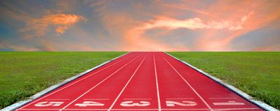 Running track for the athletes background, Athlete Track. Or Running Track stock images