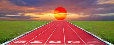Running track for the athletes background, Athlete Track. Or Running Track royalty free stock images