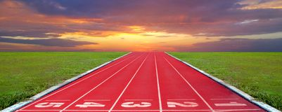 Running track for the athletes background, Athlete Track. Or Running Track royalty free stock photography