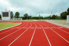 Running track for the athletes background, Athlete Track. Or Running Track royalty free stock image
