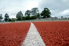 Running track for the athletes background, Athlete Track. Or Running Track stock image
