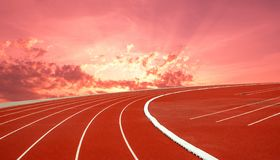 Running track for the athletes background, Athlete Track. Or Running Track stock photo