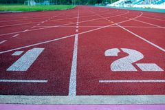 Running track for the athletes background, Athlete Track. Or Running Track stock photography