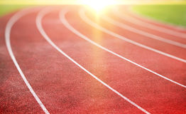 Running track. For athletics and competition royalty free stock photos