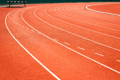 Running track for athletics Stock Photography