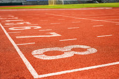 Running track for athletics Royalty Free Stock Photo