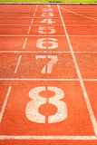 Running track for athletics Royalty Free Stock Photography