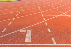Running track for athletics Stock Photo