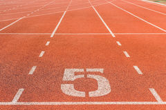 Running track for athletics Royalty Free Stock Photos