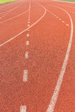 Running track for athletics Royalty Free Stock Images