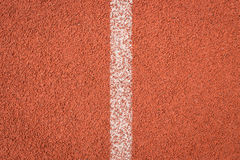 Running track for athletics Stock Image