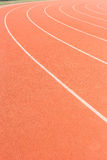 Running track for athletics Stock Photos