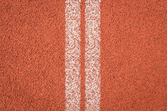 Running track for athletics Royalty Free Stock Image