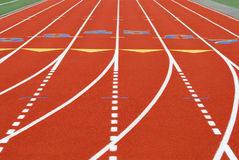 Running track background. Synthetic running track background with curve, doted and straight lines royalty free stock photo
