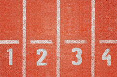 Running track. Background with nubers Royalty Free Stock Photography