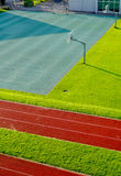 Running Track and basketball court Royalty Free Stock Image