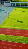 Running Track and basketball court Stock Photos