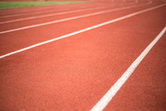 Running track for blur background Royalty Free Stock Image