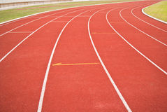 Running track bright day Royalty Free Stock Images