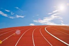 Running track bright day Stock Photo