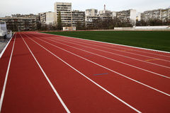 Running track. In the city royalty free stock photography