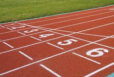 The running track closeup Royalty Free Stock Image