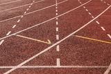 Running track cross Royalty Free Stock Photo