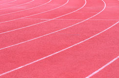 Running track curve background Royalty Free Stock Photography