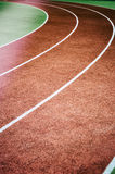 Running track curve Royalty Free Stock Photos