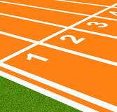 The running track Royalty Free Stock Image