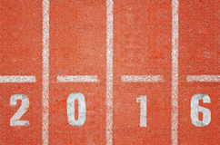 Running track 2016 Royalty Free Stock Photos